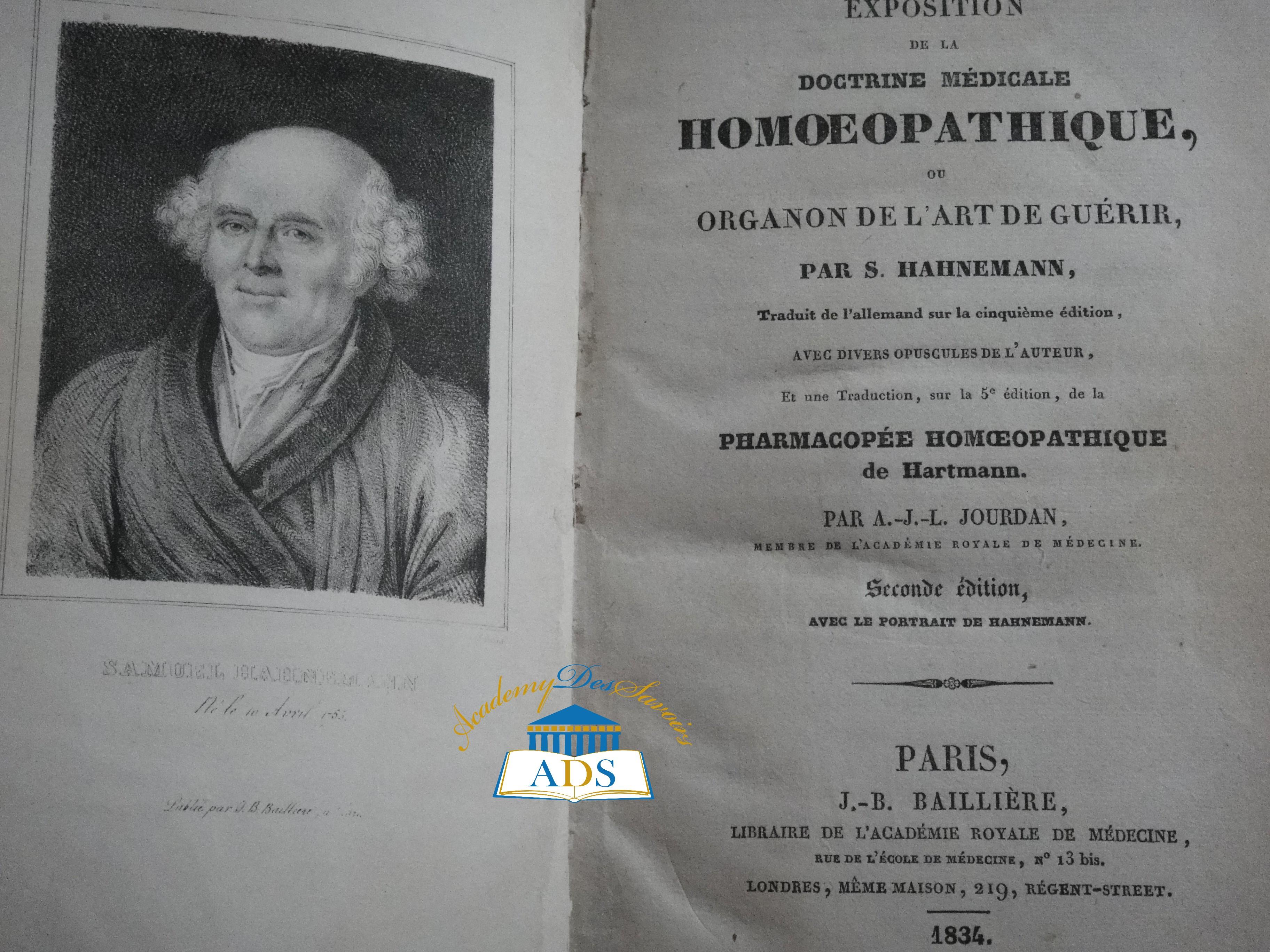 8-Hanhemann et Organon 1834