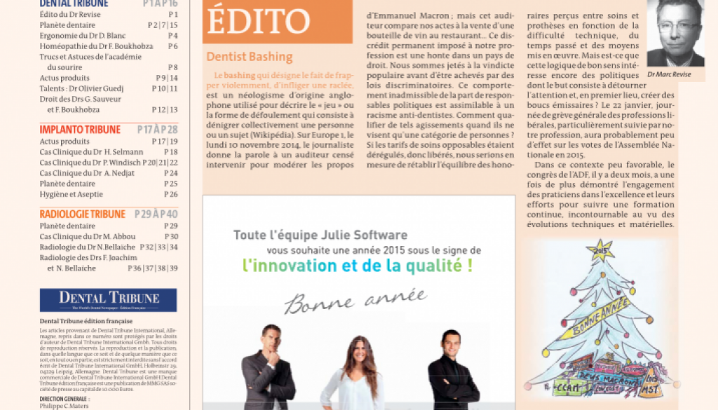 Dental tribune janv 2015